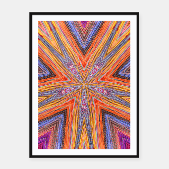 Thumbnail image of colorful strings Framed poster, Live Heroes