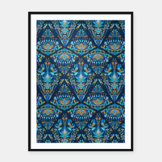 Thumbnail image of Floral pattern. Geometric pattern - Bright colorful tradition  Framed poster, Live Heroes