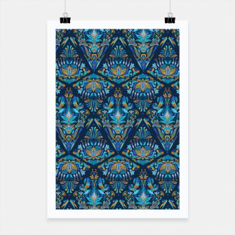 Miniatur Floral pattern. Geometric pattern - Bright colorful tradition  Poster, Live Heroes