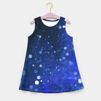 Miniaturka Blue Glitter Girl's Summer Dress, Live Heroes