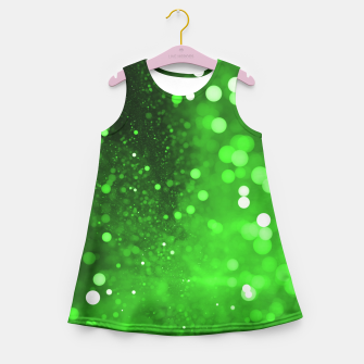 Miniaturka Green Glitter Girl's Summer Dress, Live Heroes