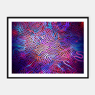 Thumbnail image of Pattern Framed poster, Live Heroes