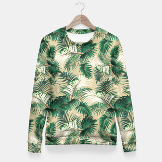 Thumbnail image of Tropical Jungle Fitted Waist Sweater, Live Heroes