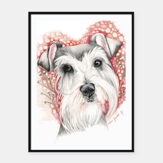 Thumbnail image of Sweet Dog Framed poster, Live Heroes