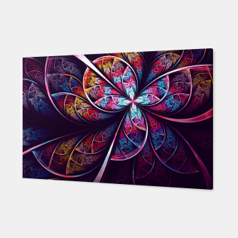 Miniatur Abstract Flower Canvas, Live Heroes