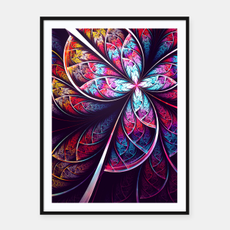 Miniatur Abstract Flower Framed poster, Live Heroes