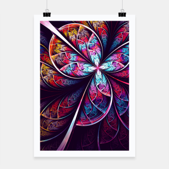 Miniatur Abstract Flower Poster, Live Heroes