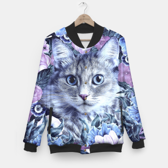 Imagen en miniatura de Cat In Flowers. Winter Baseball Jacket, Live Heroes