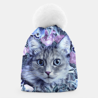 Miniaturka Cat In Flowers. Winter Beanie, Live Heroes