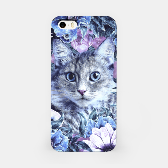 Miniatur Cat In Flowers. Winter iPhone Case, Live Heroes
