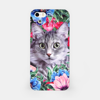 Miniatur Cat In Flowers. Summer iPhone Case, Live Heroes