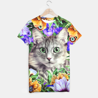 Miniaturka Cat In Flowers. Spring T-shirt, Live Heroes
