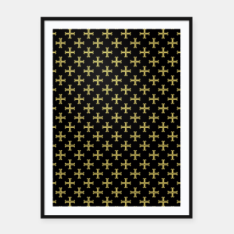 Miniatur Yellow Cross Framed poster, Live Heroes