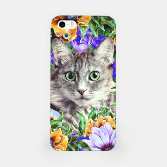 Miniatur Cat In Flowers. Spring iPhone Case, Live Heroes