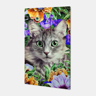 Miniaturka Cat In Flowers. Spring Canvas, Live Heroes