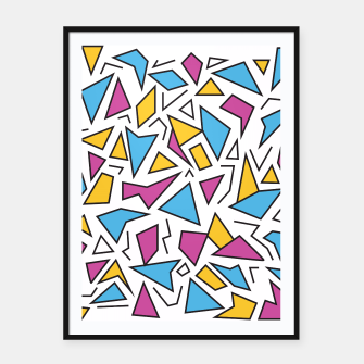 Miniatur Retro Shapes 1 Framed poster, Live Heroes