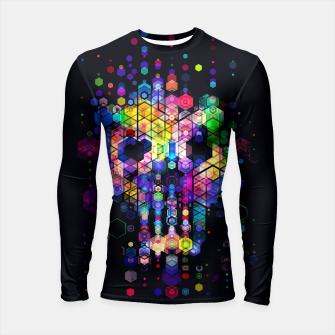 Thumbnail image of Monstrously Colorful Elementary Particles Longsleeve Rashguard , Live Heroes