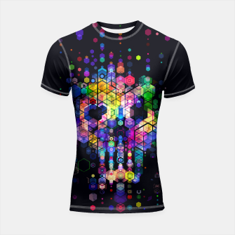 Miniature de image de Monstrously Colorful Elementary Particles Shortsleeve Rashguard, Live Heroes