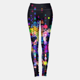 Miniatur Monstrously Colorful Elementary Particles Leggings, Live Heroes