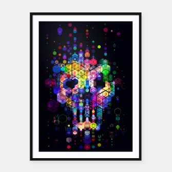 Miniatur Monstrously Colorful Elementary Particles Framed poster, Live Heroes