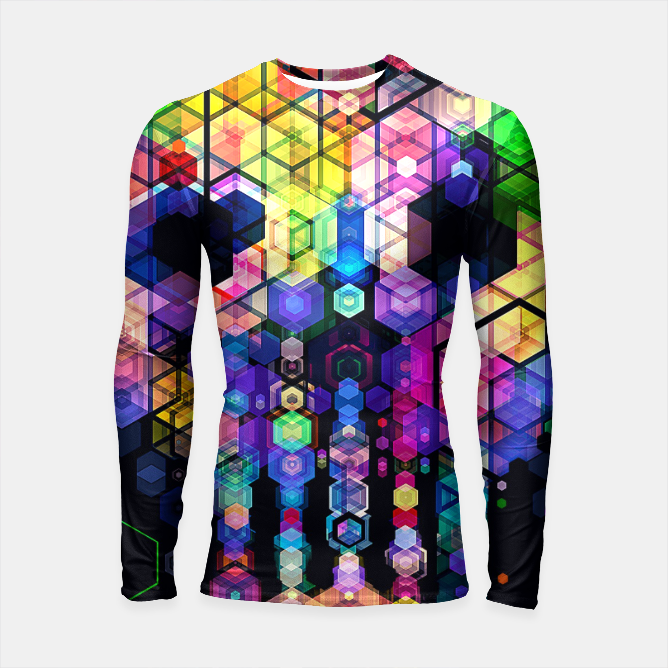 Foto Monstrously Colorful Elementary Particles Longsleeve Rashguard  - Live Heroes