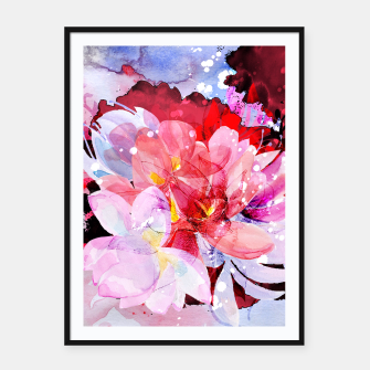 Miniatur Beautiful watercolor flowers Framed poster, Live Heroes
