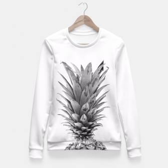 Miniatur Black and White Pineapple Fitted Waist Sweater, Live Heroes