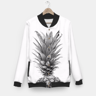 Imagen en miniatura de Black and White Pineapple Baseball Jacket, Live Heroes