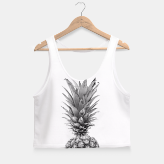 Miniatur Black and White Pineapple Crop Top, Live Heroes