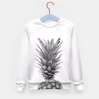 Miniatur Black and White Pineapple Kid's Sweater, Live Heroes