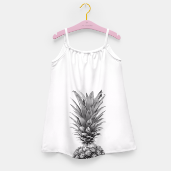 Miniatur Black and White Pineapple Girl's Dress, Live Heroes