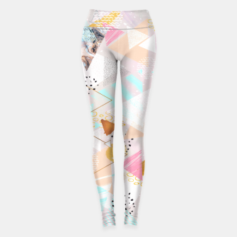 Abstract geometric textures and marble Leggings thumbnail image