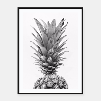 Miniatur Black and White Pineapple Framed poster, Live Heroes
