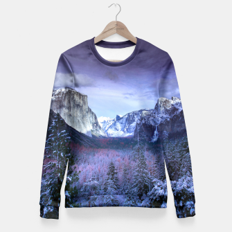 Miniatur Yosemite in Winter Fitted Waist Sweater, Live Heroes