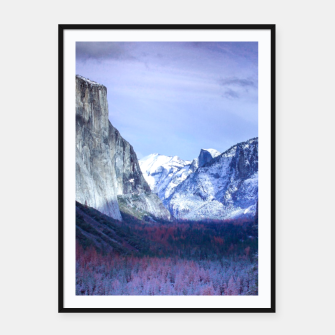 Miniatur Yosemite in Winter Framed poster, Live Heroes
