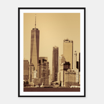 Thumbnail image of New York Cityscape Framed poster, Live Heroes