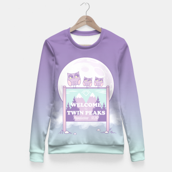 Miniatur Welcome to Twin Peaks - Owls Fitted Waist Sweater, Live Heroes