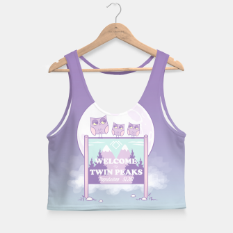 Miniatur Welcome to Twin Peaks - Owls Crop Top, Live Heroes