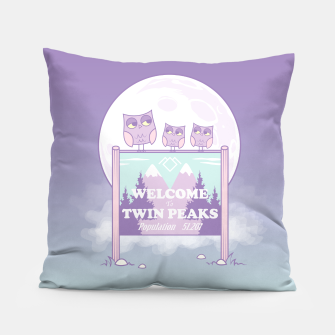Miniatur Welcome to Twin Peaks - Owls Pillow, Live Heroes