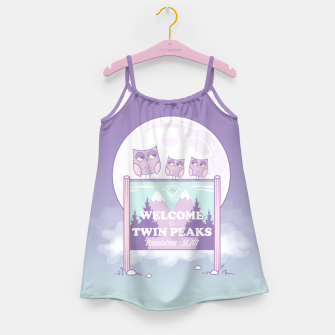 Miniatur Welcome to Twin Peaks - Owls Girl's Dress, Live Heroes