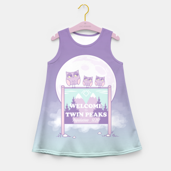 Miniaturka Welcome to Twin Peaks - Owls Girl's Summer Dress, Live Heroes