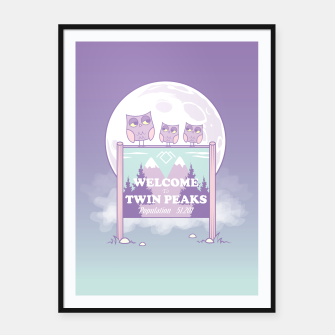 Miniatur Welcome to Twin Peaks - Owls Framed poster, Live Heroes