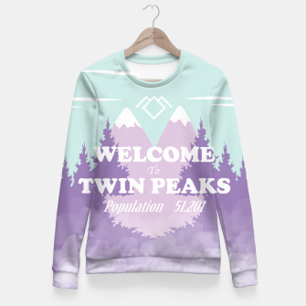 Miniatur Welcome to Twin Peaks Fitted Waist Sweater, Live Heroes