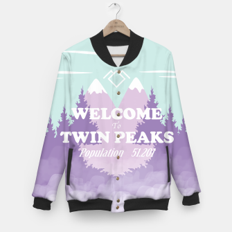 Imagen en miniatura de Welcome to Twin Peaks Baseball Jacket, Live Heroes