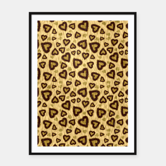 Thumbnail image of Leopard Hearts 1 Framed poster, Live Heroes