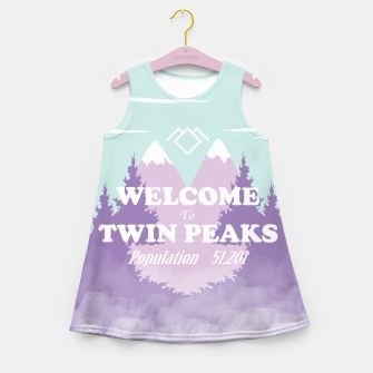 Miniaturka Welcome to Twin Peaks Girl's Summer Dress, Live Heroes