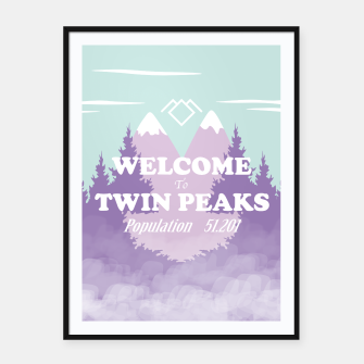 Miniatur Welcome to Twin Peaks Framed poster, Live Heroes
