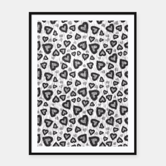 Thumbnail image of Leopard Hearts 2 Framed poster, Live Heroes