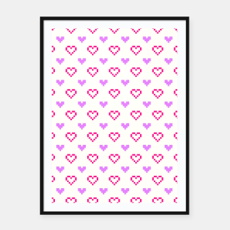 Thumbnail image of Pixel Hearts Framed poster, Live Heroes