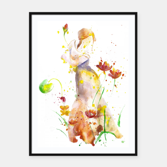 Miniatur WOMAN'S ABSTRACT - FALL  Framed poster, Live Heroes